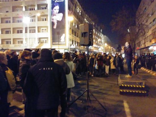 Antonio Miloshoski protest ministerstvo za pravda 29noe17 - Meta