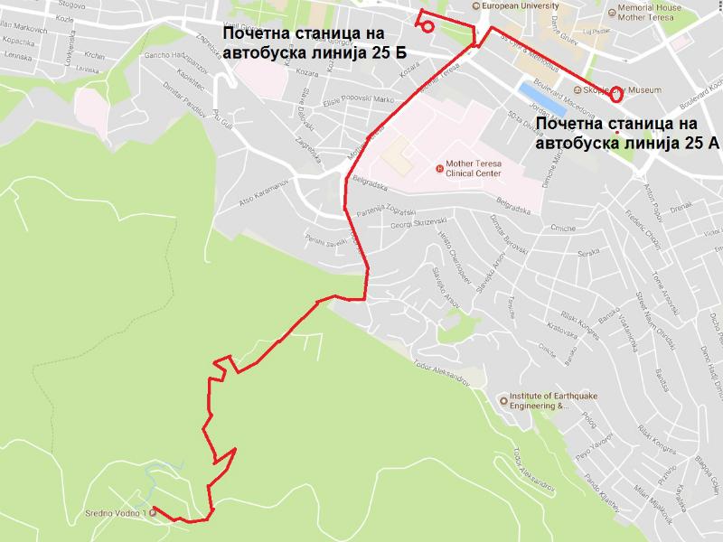 Mapa novi satl avtobuski linii