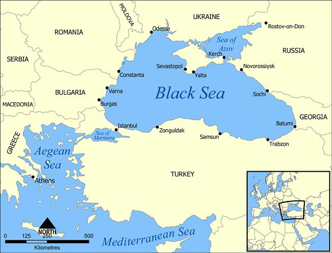 црно море мапа
