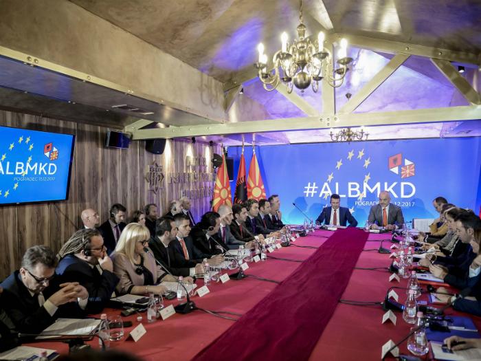 Pogradec zaednichka vladina sednica Makedonija Albanija 15dek17 - Vlada na RM