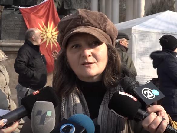 Ana Bobinkova - Mijakovska protest protiv zakonot za jazicite 27.01.2018