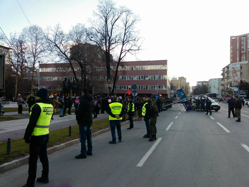 Protest Levica protiv NATO Jens Stoltenberg Sobranie 18jan18 - Meta