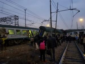 Zheleznichka nesrekja Pioltelo kaj Milano 25jan18