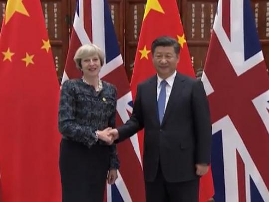 Tereza Mej i Ksi Jinping