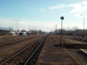 Zheleznichka stanica zheleznica pruga vozovi stanica Skopje Sever 29dek17 - Meta