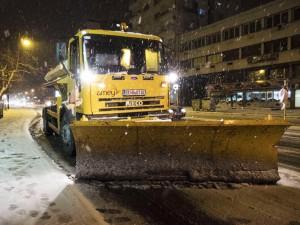 Zimska sluzba sneg Grad Skopje cistenje