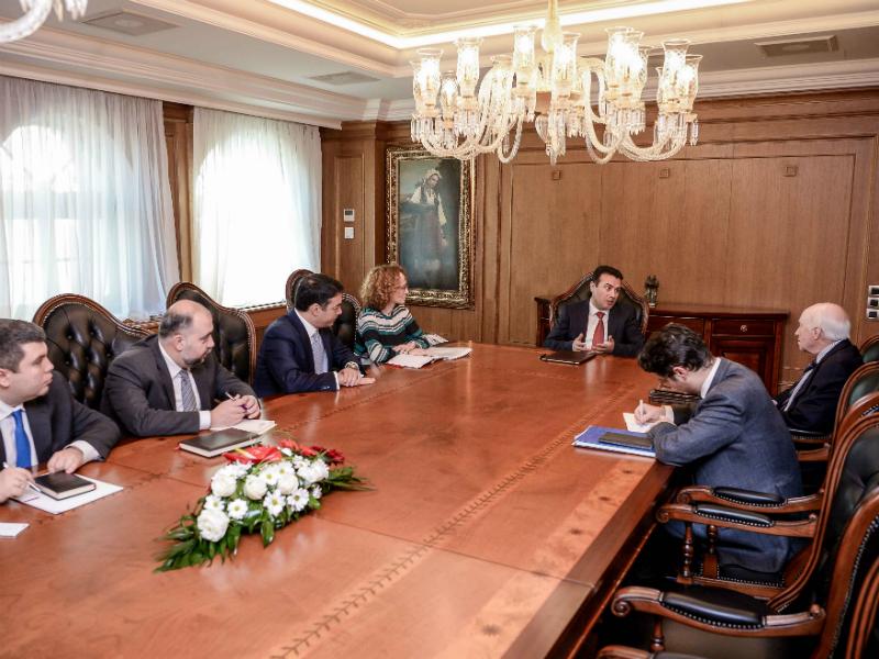 Zoran Zaev Metju Nimic Radmila Sekerinska Nikola Dimitrov kabinet 1fev18 - Vlada