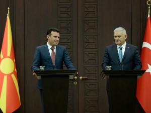 Zoran Zaev i Binali Jildirim Ankara 12fev18 - Vlada na RM