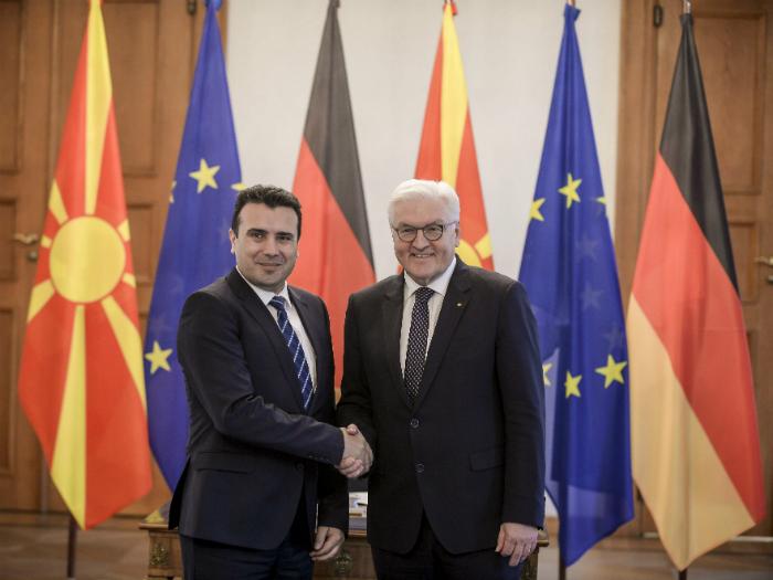 Zoran Zaev i Frank Valter Shtajnmajer pretsedatel Germanija Berlin 21fev18 - VladaRM