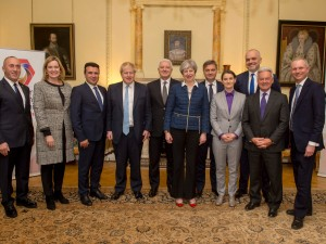 Today Prime Minister Theresa May met with heads of Governments from he Wester Balkan States.  During the reception held at No10 Downing Street the Prime Minister met with the leaders  and discussed the up and coming conference later this year