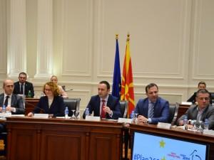 Bujar Osmani Shekerinska Spasovski Saliji Manchevski so ambasadori od EU 7mar18 - Vlada RM