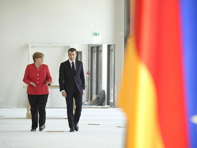 Angela Merkel i Emanuel Makron Berlin 19apr18 - VladaGermanija