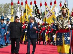 Juzhna Koreja Moon Jae-in Severna Koreja Kim Jong Un Panmunjom 27apr18