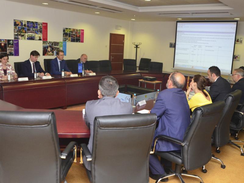 Bujar Osmani Samuel Zhbogar prezentacija na Plan 18 pred Delegacija na EU 31maj108 - SEP