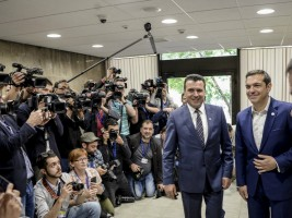 Novinari Zoran Zaev Aleksis Cipras Samit EU Zapaden Balkan Sofija 17maj18 - Vlada