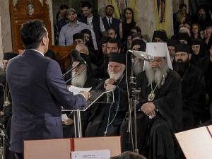 Proslava 50 godini avtokefalnost MPC Sveta Sofija Ohrid Zaev Stefan Timotej vladici 27maj18 - Vlada