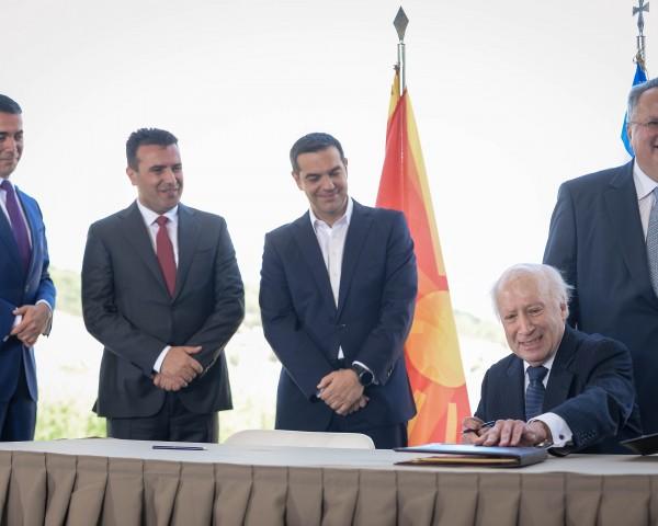 Dimitrov, Zaev, Cipras, Kodzias, Nimic, potpisuvanje dogovor prespa