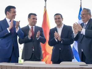 Dimitrov, Zaev, Cipras, Kodzias, potpisuvanje dogovor prespa