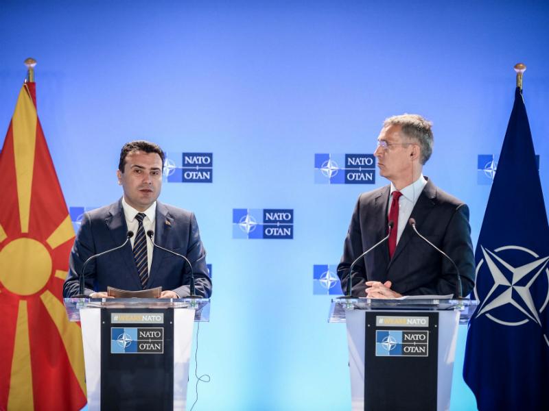 Zaev i Stoltenberg vo NATO 29jun18 - Vlada
