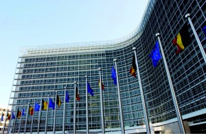 The inauguration of the Berlaymont Building, headquarters of the European Commission .
