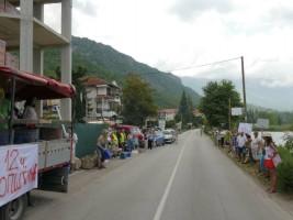 1 Protest karvan Ohridsko Ezero 31jul18 - Ohrid SOS