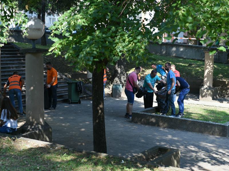 Chistenje Komunalna higiena vo Кlinicki centar 13jul8 -Grad Skopje
