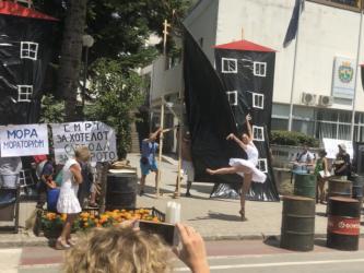 Protest za Ohridsko Ezero ekologisti 31jul18 - Ohrid SOS