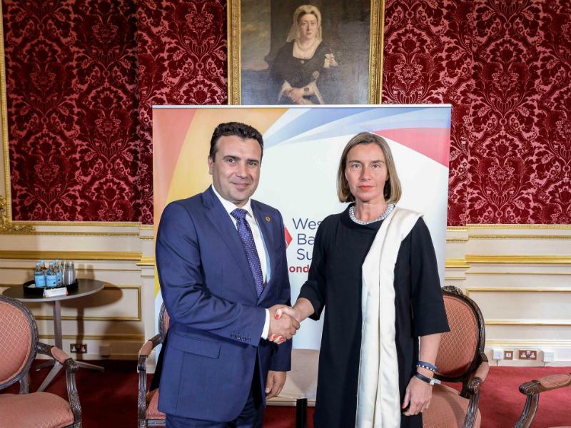 Zoran Zaev Federika Mogerini samit Zapaden Balkan vo London 10jul18 - Vlada