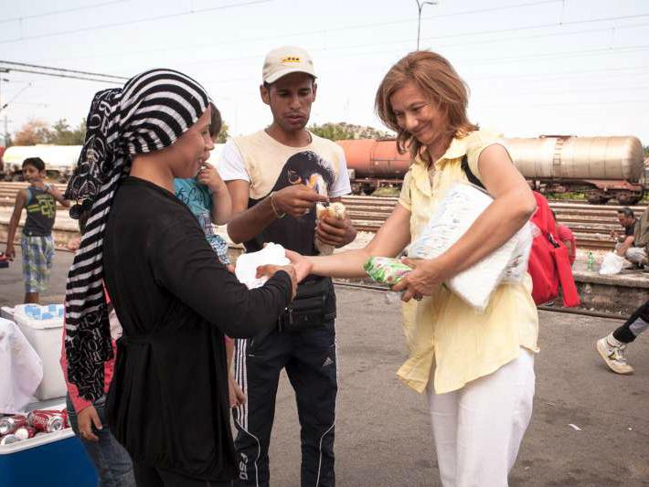 Lenche Zdravkin so migranti jul15 - Copyright UNHCR - N