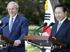 Dzordz Bush i Lee Myung-bak 6avg08