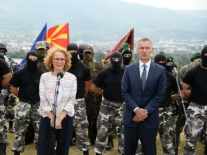 Radmila Sekerinska i Stoltenberg so specijalci ARM 6sep18 - MinOdb