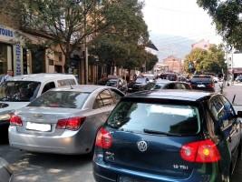 Tetovo 1 ulici soobrakjaj metezh avtomobili 3okt18 - Meta