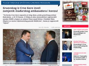 Gruevskog iz Crne Gore izveli zamjen vijesti me