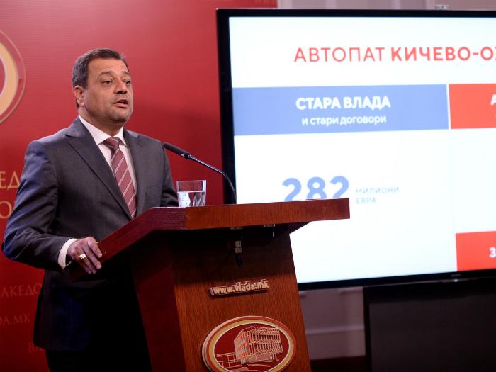 Kocho Angjushev pres avtopat Kichevo Ohrid 2noe18 - Vlada