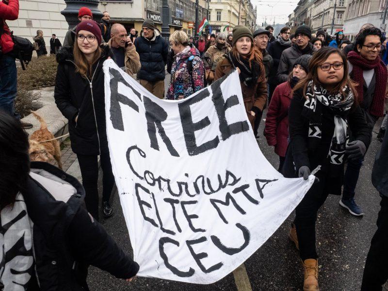 studenti budimpesta protest