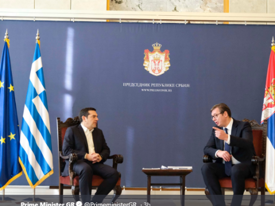 Cipras i Vucic 21dek18 - Cipras Twitter
