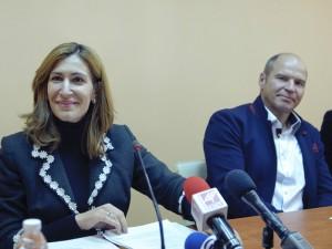 Mark Dzhirardeli so bugarska ministerka za turizam Nikolina Angelkova