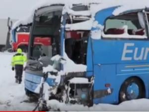avtobuska nesrekja kaj Leskovac Eurobus 16dek18 - Screenshot
