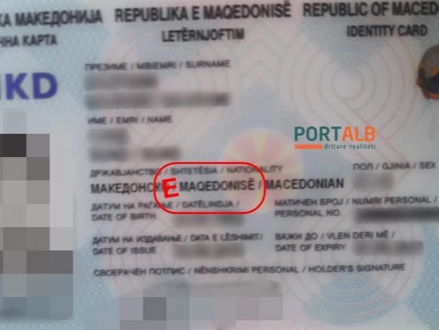 Lichna karta na albanski so nepochituvan genitiv - Portalb (1)