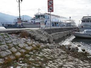 Ohrid pristanishte molo oshtetuvanja - dopisnik na Meta