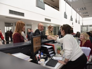 Sanja Lukarevska i Dragan Tevdovski vo Regionalna direkcija Skopje UJP - 4jan19 - MinFin
