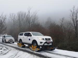 terenski vozila dzipovi Nisan Navara so gasenici 21jan19 - MVR