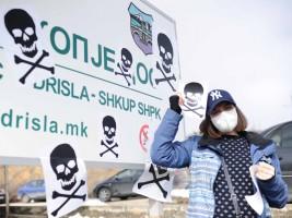 aktivistka maska Drisla protest ekologisti 1fev19 - Borche Popovski