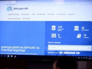 portal za otvoreni podatoci data gov mk na monitor