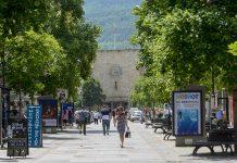 ulica Makedonija Stara Zheleznichka stanica lugje toplo minuvachi