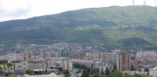 Skopje i Vodno sonce sonchevo krstot od Kale
