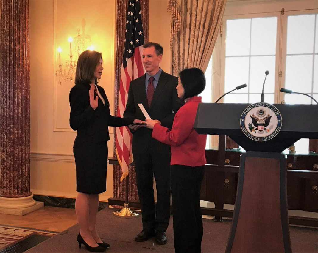 Kate Byrnes sworn in as new US Ambassador to the Republic of