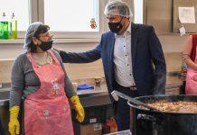 Зоран Заев народна кујна Шуто Оризари фото: Влада на РСМ